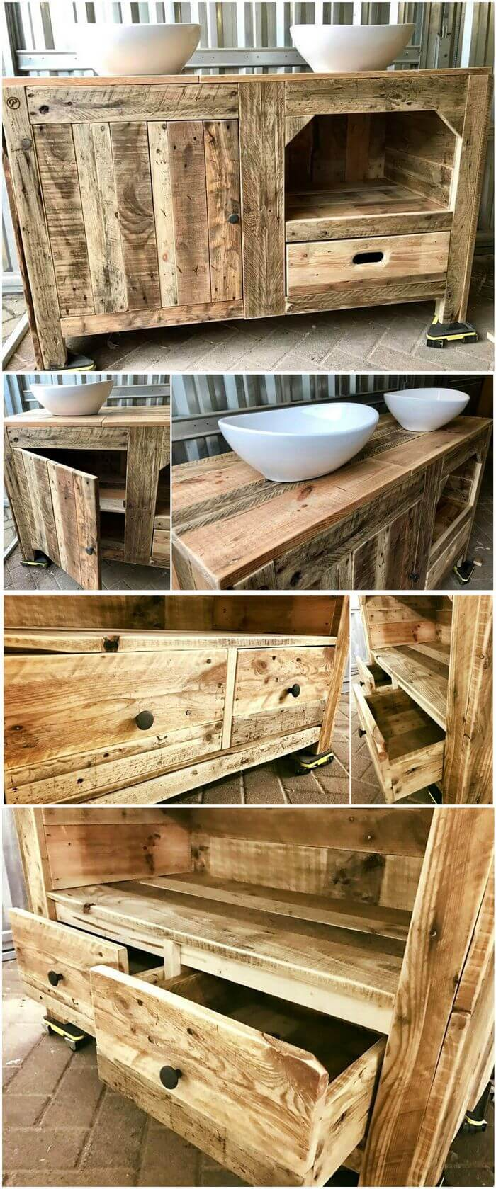 Pallet Bathroom Cabinet